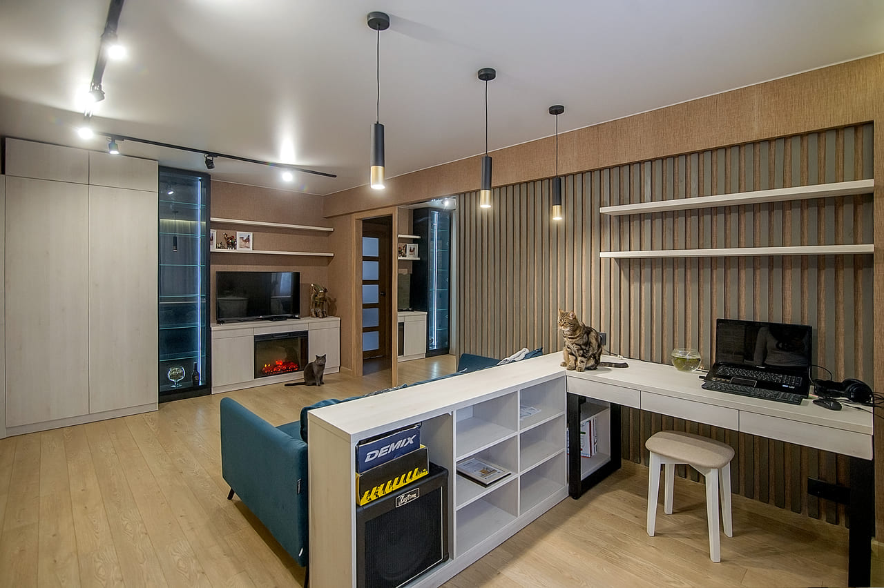 Гостиная 3-х комнатной квартиры ульяновской серии