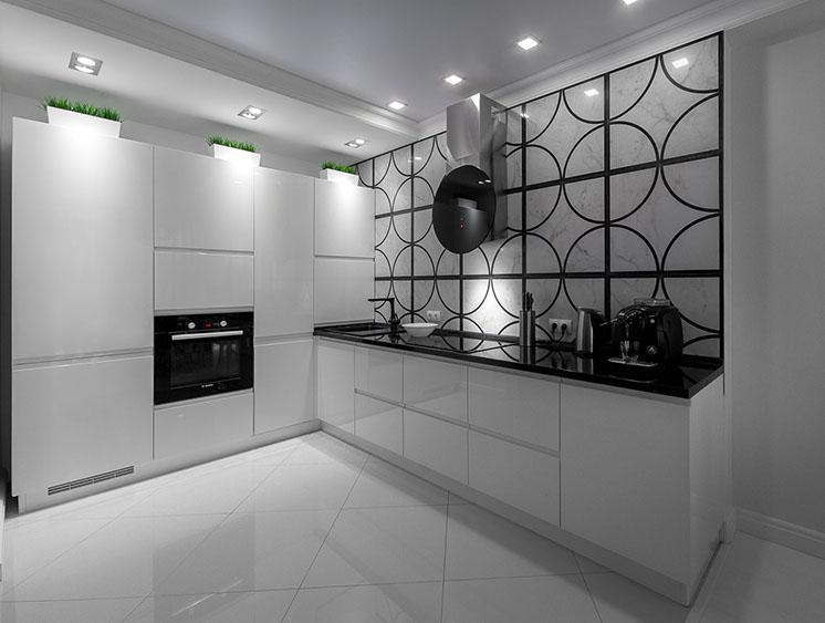 Кухня в жемчужном блеске