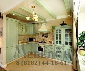 Кухня с фисташковыми фасадами